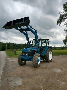 Ford 7840 Tractor Diesel 4x4 Loader Cab Can Ship