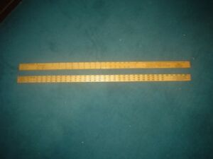 2 Diff Federal Land Bank Forestry Log Scale Sticks International 1 4 Rule