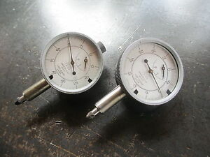 Pair Of 2 Precision Tesa Dial Indicators 0 0001 Swiss Made Free Shipping