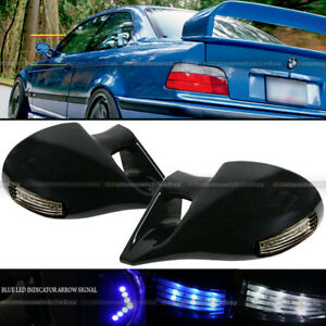 For 01 05 Civic 2dr M 3 Style Led Manual Side Mirror W Indicator Arrow Signal