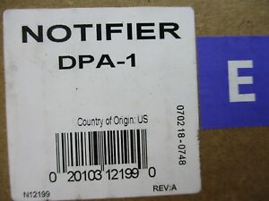new Notifier Dpa 1 Dress Plate Compatible With Ca 1 Chassis