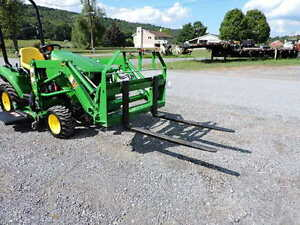 New Cid Xtreme 42 Pallet Forks John Deere Compact Tractor Loader Quick Attach