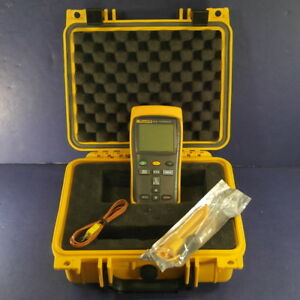 Fluke 52 Ii Thermocouple Thermometer Very Good Hard Case Screen Protector