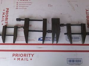 Lot Of 3 Machinist Parallel Clamps 5 4 3 5 Tooling W Extra Parts