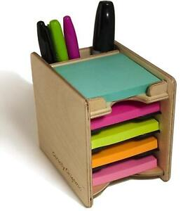 Strictly Origamic Colored Sticky Notes Pad And Pen Holder organizer Includes 3
