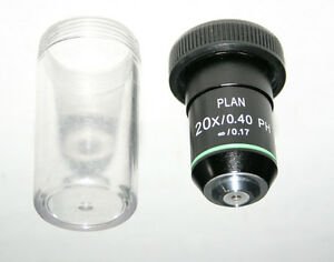 Fisher Amg 20x Plan Phase Contrast Infinity Corrected Microscope Objective New