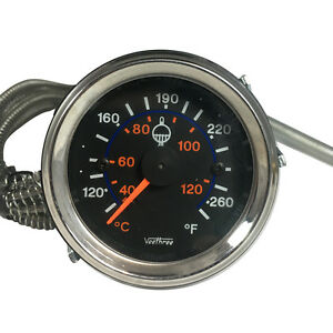 Universal 2 52mm Car Truck Auto Water Temperature Temp Gauge Meter