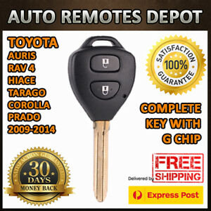 Toyota Corolla Rav4 Hiace Tarago Transponder Chip Remote Key Keyless Entry G Key