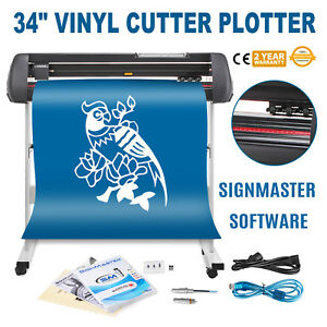34 Vinyl Cutting Plotter Sign Cutter Printer Sticker Led Display With Stand