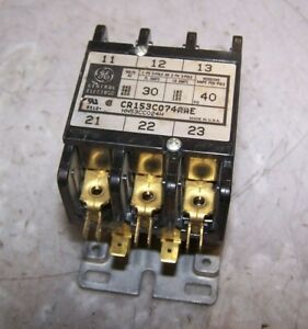 New Ge 30 Amp Contactor 24 Vac Coil 600 Vac 3 Phase 3 Pole Cr153c074aae