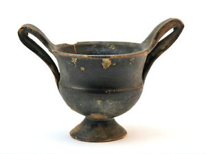 C 500 Bc Greece Greek Antiquities Black Pottery Kantharos Twin Handled Cup
