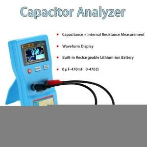 2 In 1 Lcd Digital 0 470 Capacitor Esr Meter 0 f 470mf Capacitance Tester O8c2