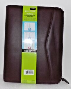 Day timer Verona Leather Ring Bound Organizer Starter Set Brown 10 5 x8 5 x1 5