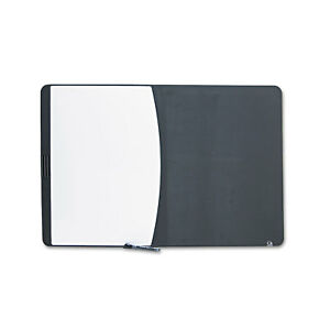 Quartet Tack Write Board 35 X 23 1 2 Black white Surface Black Frame 06545bk