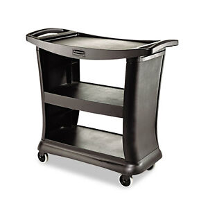Rubbermaid Commercial Executive Service Cart Three shelf 20 1 3w X 38 9 10d