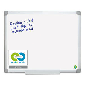 Mastervision Earth Silver Easy Clean Dry Erase Boards 48 X 96 White Aluminum