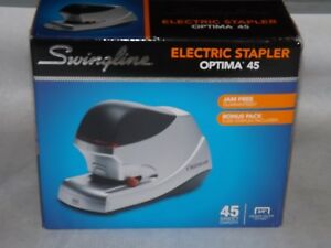 Swingline 48209 Optima 45 Electric Stapler 45 sheet Capacity Silver