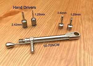 Dental Implant Torque Wrench Ratchet 10 70 Ncm Abutment Hex Hand Drivers