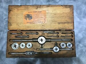 Vintage Greenfield Little Giant Screw Plate Tap Die Compete Set W Original Box