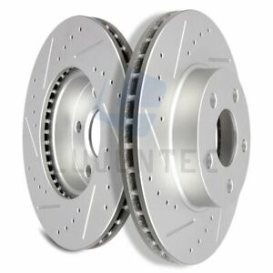 Front Brake Discs Rotors For 1992 2005 Chevrolet Cavalier Vented Drilled 2pcs
