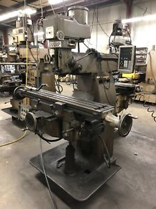Sharp Tmv Mill Working Condition No Vise No Tools 9x 54 Table