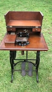 Wheeler Wilson Machine Cabinet And Treadle