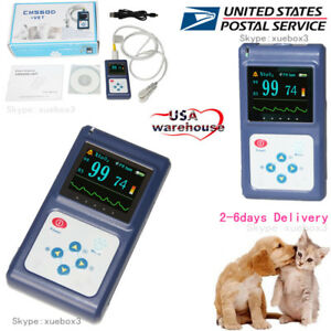 Us Seller Veterinary Pulse Oximeter Spo2 Heart Rate Monitor Vet Ear tongue Probe