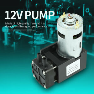 1pc 42w Dc12v Mini Small Oilless Vacuum Pump 85kpa Flow 40l min New