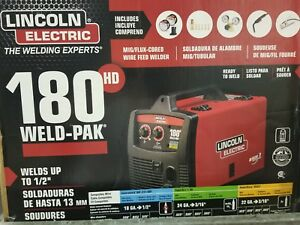 Lincoln Electric Weld Pak 230v Input30 180amp Output Hd Wire Feed Welder K2515 1