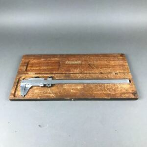 Starrett 123 Vernier Caliper 0 001 12 14 Inch With Original Wooden Case