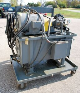 La Salle Portable Hydraulic Unit Vickers Pump Vc108cd3db6 7 5hp Approx 60gal
