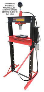 New Redline Engineering Shop Press 20 Ton Auto Automotive Hydraulic Adjustable