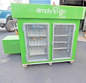 Beverage Cooler Custom Made Mounts On Bed Of A Vending Golf Cart Self Contained