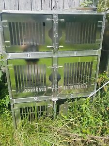Stainless Steel Kennels Kennel Animal Dog Cat Cages 18 Sections