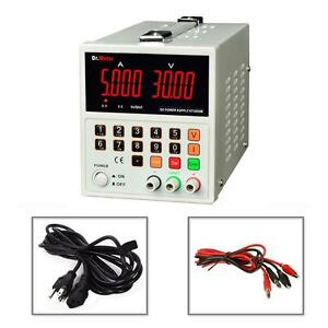 Dual Channels Switch Digital Dc Power Supply 30v 5a Lab High Accuracy 1ma 10mv