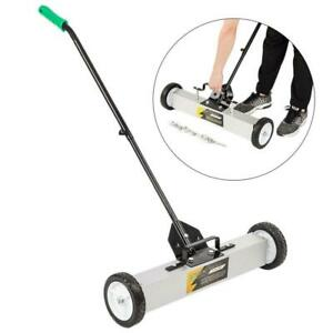 24 Magnetic Sweeper Floor Rolling Pick Up Roller Push Broom