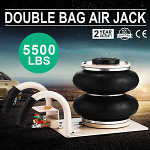 5500lbs Double Bag Air Jack Pneumatic Jack Jack Stands Lift Jack Compressed Air