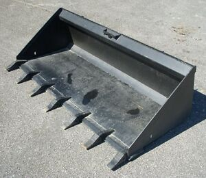 Bobcat Case Cat Skid Steer Attachment 74 Low Profile Tooth Bucket Ship 199
