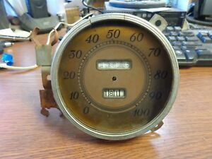 1938 Ford Deluxe Speedometer Delco with Four Place Trip Dial