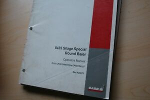 Case Ih 8435 Silage Special Round Baler Owner Operator Maintenance Manual Book
