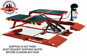 Challenger Srm10 10000 Lb 10k Automotive Car Truck Low Rise Scissor Lift