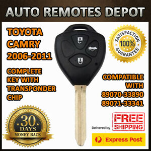 Remote Keyless Entry Transmitter Fob For Toyota Camry 2006 2010 89071 33340 Chip