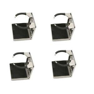 4 Pcs Stainless Steel Adjustable Folding Cup Drink Holder Marine Boat Truck Rv