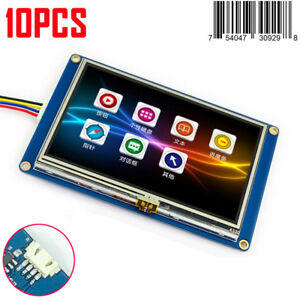 10x 4 3 Nextion Hmi Intelligent Usart Serial Touch Panel Lcd Module Display