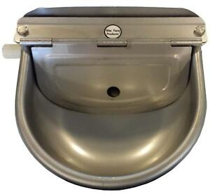 Rite Farm Products Stainless Steel Automatic Stock Waterer Horse Cattle Goat Hog