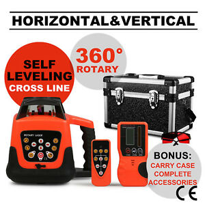 Self leveling 150m Range Red Beam Rotary rotating Laser Level Set With Case