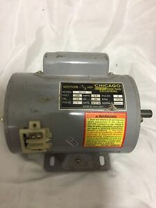 Chicago Electric Power Tools Industrial Motor 1 2 Hp Model92105 120 V1 Phase 172