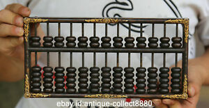 9 2 Antique Old Chinese Fengshui Bronze Calculation Bead Abacus Counting Frame