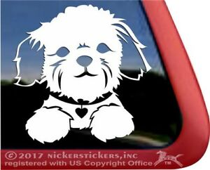 Adorabel Shih Tzu Puppy Dog Face High Quality Vinyl Window Decal Sticker