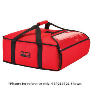 Cambro Gbp216110 Black Pizza Delivery Bag 2 16 Pizza Capacity Case Of 4